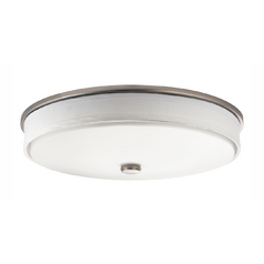 Kichler Flushmount Ceiling Light with White Drum Shade