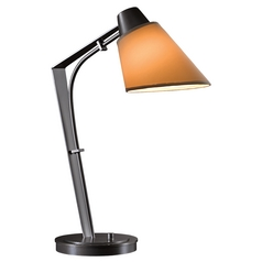 Hubbardton Forge Lighting Reach Dark Smoke Table Lamp with Empire Shade