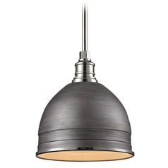 Farmhouse Barn Light Zinc / Polished Nickel Carolton by Elk Lighting