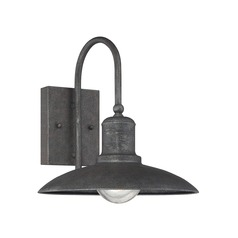 Seeded Glass Outdoor Wall Light Bronze Savoy House