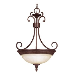 Savoy House Walnut Patina Pendant Light with Bowl / Dome Shade