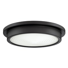 Bronze LED Flushmount Light with Painted White Shade 3000K 2300LM