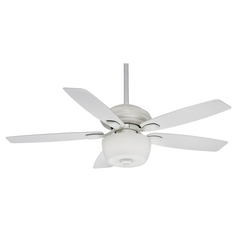 Casablanca Fan Co Casablanca Fan Utopian Gallery Snow White Ceiling Fan with Light 54041