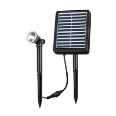LED Solar Light in Black Finish