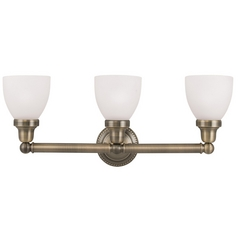 Livex Lighting Classic Antique Brass Bathroom Light
