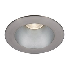 WAC Lighting Tesla Pro Haze Brushed Nickel LED Recessed Trim