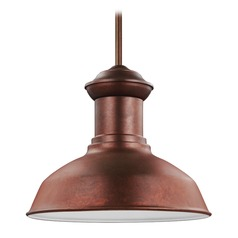 Sea Gull Fredricksburg Weathered Copper Outdoor Hanging Light
