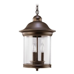 Sea Gull Lighting Hermitage Antique Bronze LED Outdoor Hanging Light