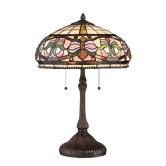 Quoizel Lighting Tiffany Russet Table Lamp with Bowl / Dome Shade