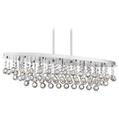 Quoizel Lighting Bordeaux with Clear Crystal Polished Chrome Island Light