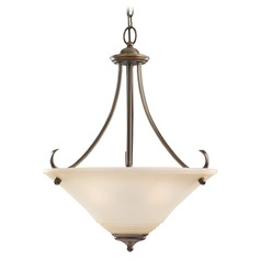 Sea Gull Lighting Parkview Russet Bronze LED Pendant Light with Conical Shade