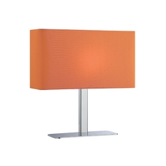 Modern Console & Buffet Lamp with Orange Shade in Chrome Finish