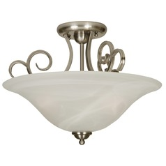 Craftmade Cecilia Brushed Satin Nickel Semi-Flushmount Light