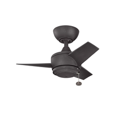 Kichler Lighting Yur Distressed Black Ceiling Fan Without Light