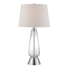 Lite Source Lighting Danya Polished Steel Table Lamp with Drum Shade