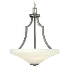 Hinkley Lighting Spencer Brushed Nickel Pendant Light with Conical Shade