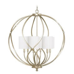 Capital Lighting Bailey Winter Gold Pendant Light with Cylindrical Shade