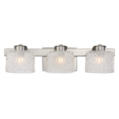 Quoizel Lighting Platinum Collection Seaview Brushed Nickel Bathroom Light