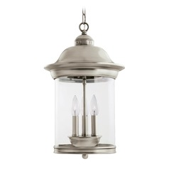 Sea Gull Lighting Hermitage Antique Brushed Nickel LED Outdoor Hanging Light