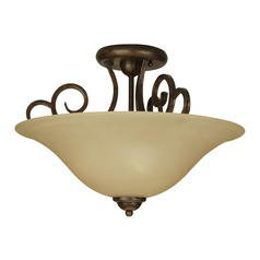 Craftmade Cecilia Peruvian Bronze Semi-Flushmount Light
