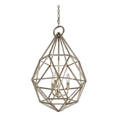Feiss Lighting Marquise Burnished Silver Pendant Light