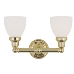 Livex Lighting Classic Polished Brass Bathroom Light