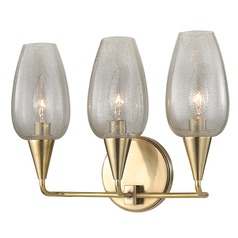 Longmont 3 Light Bathroom Light - Aged Brass