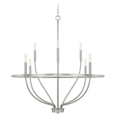 Homeplace By Capital Lighting Greyson Brushed Nickel Chandelier