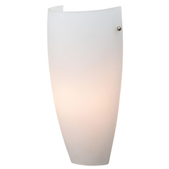 Modern Sconce Wall Light with White Glass