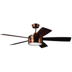 Craftmade Lighting Braxton Brushed Copper LED Ceiling Fan with Light