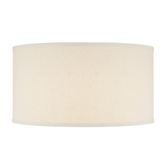 Cream Linen Fabric Drum Shade