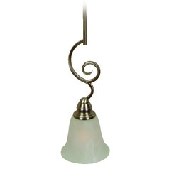 Jeremiah Cecilia Brushed Satin Nickel Mini-Pendant Light with Bell Shade