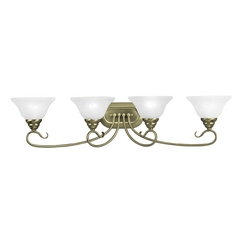 Livex Lighting Coronado Antique Brass Bathroom Light