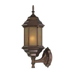 Outdoor Traditional Wall Light with Hexagon Shade -