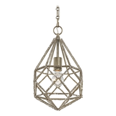 Feiss Lighting Marquise Burnished Silver Mini-Pendant Light