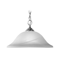 Livex Lighting Brushed Nickel Pendant Light with Bowl / Dome Shade