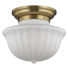 Dutchess 2 Light Semi-Flushmount Light - Aged Brass