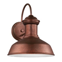 Sea Gull Fredricksburg Weathered Copper Outdoor Wall Light