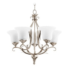 Quorum Lighting Flora Aged Silver Leaf Chandelier