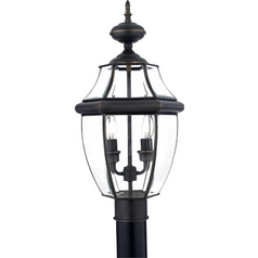 Quoizel Lighting Post Light with Clear Glass in Medici Bronze Finish NY9042Z