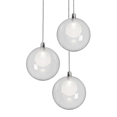 Kuzco Chrome LED Multi-light Pendant