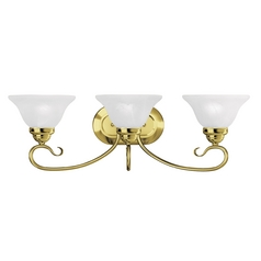 Livex Lighting Coronado Polished Brass Bathroom Light