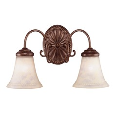 Savoy House Walnut Patina Bathroom Light