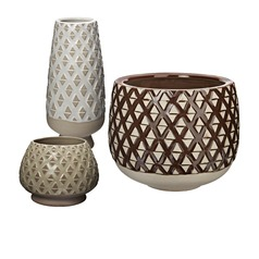 Two Tone Lattice Pots