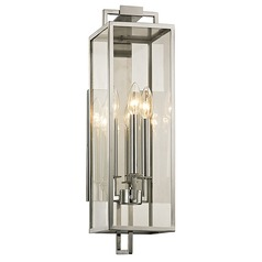 Troy Lighting Beckham Polished Stainless Outdoor Wall Light