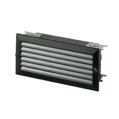 Modern Recessed Step Light in Black Finish