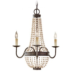 Feiss 3-Light Mini Chandelier in Peruvian Bronze