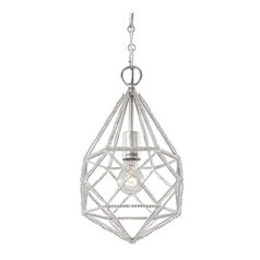 Feiss Lighting Marquise Silver Mini-Pendant Light
