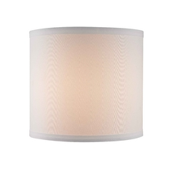 White Linen Uno Drum Lamp Shade