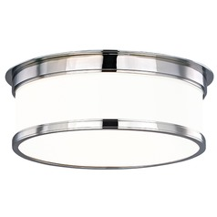 Geneva 3 Light Flushmount Light Drum Shade - Polished Chrome